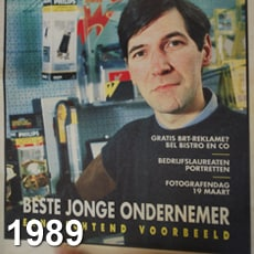 Paul De Meutter Best Young Entrepreneur 1989